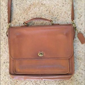 COACH LEATHER VINTAGE BRIEFCASE CROSSBODY BAG 5181
